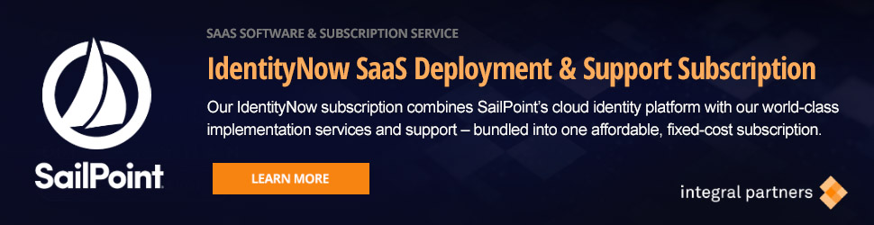 SailPoint's IdentityNow Deployment and Support Subscripton